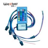 Westbay светодиодный 2 Вт RGB волоконно-оптический свет двигателя Регулируемая легкость для украшения автомобиля Рождественская вечеринка