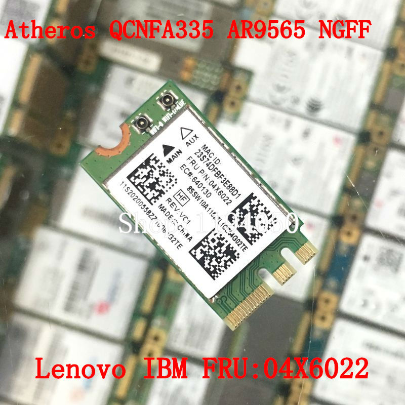 Atheros QCNFA335 WLAN Wifi Bluetooth4.0 NGFF Wireless Card For Lenovo G40-30 45 70 B50 V1000 FRU:04X6022 WLAN