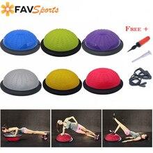 FAVSPORTS 46 см гимнастическая тренировка Половина Йога Фитнес Бал баланс тела стабильность дисковые упражнения пилатес фитбол с струнами и насосом