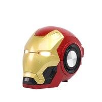 new Iron Man wireless Bt Speaker Ironman loudspeaker Kids Gift LED Flashing Light Boombox column Bluetooth Con Radio Bocina