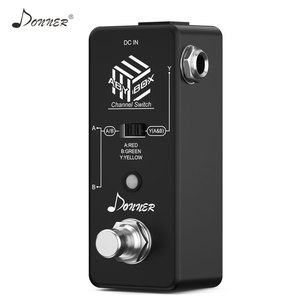 Image 3 - Donner ABY Switcher Box Gitarre Pedal ABY Linie Selector Audio Kanal Swith Kombinieren Effekt Pedal True Bypass Gitarre Zubehör