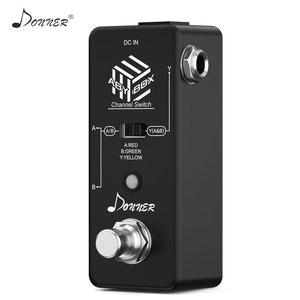Image 3 - Donner aby switcher caixa pedal de guitarra aby linha seletor canal áudio swith combinar efeito pedal true bypass guitarra acessórios
