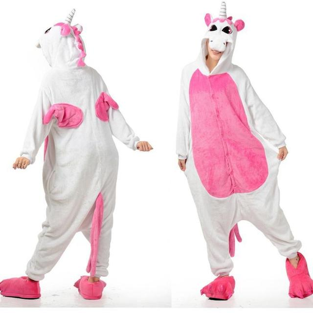 266d99595f43 Lovely Animal Costume Pajamas Onesies Unicorn For Adult Men And ...