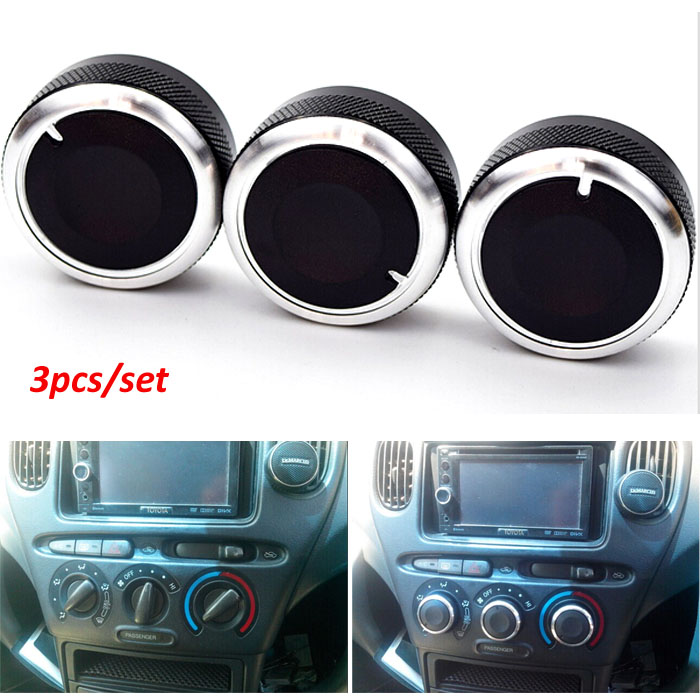 US $9 13 13% OFF|3x FIT FOR TOYOTA YARIS VITZ ECHO 98 05 SWITCH KNOB KNOBS  HEATER HEAT CLIMATE CONTROL BUTTONS DIALS FRAME RING A/C AIR CON COVER-in