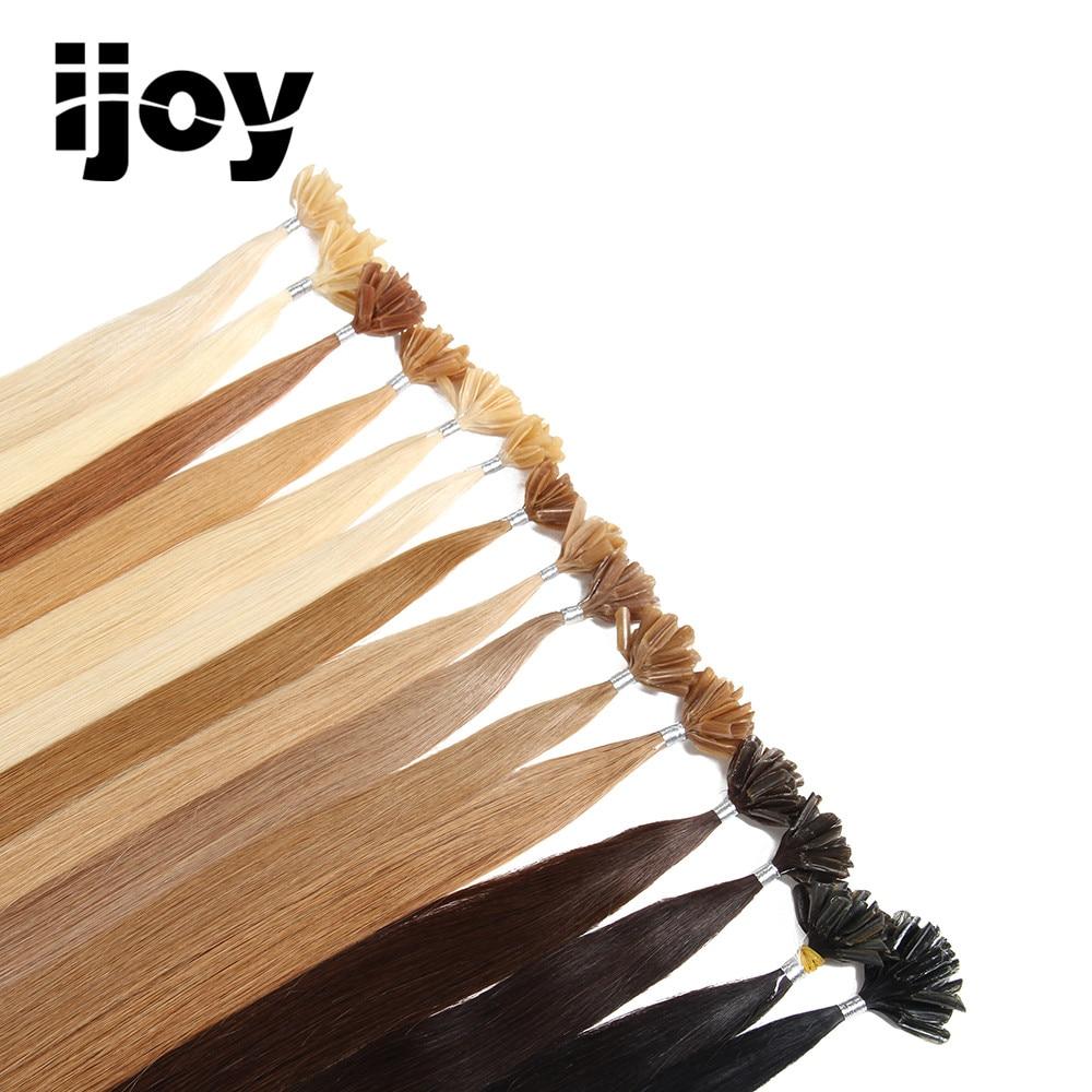 IJOY # 30 Remy Silky Straight nail U Tipp emberi hajkiemelések Salon - Emberi haj (fehérre) - Fénykép 5