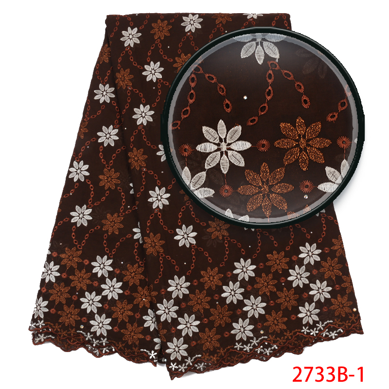 Swiss Voile Lace In Switzerland Hot Sale,African Cotton Lace Embroidery,High Quality Dry Lace Fabric For Nigeria Dress KS2733B-1