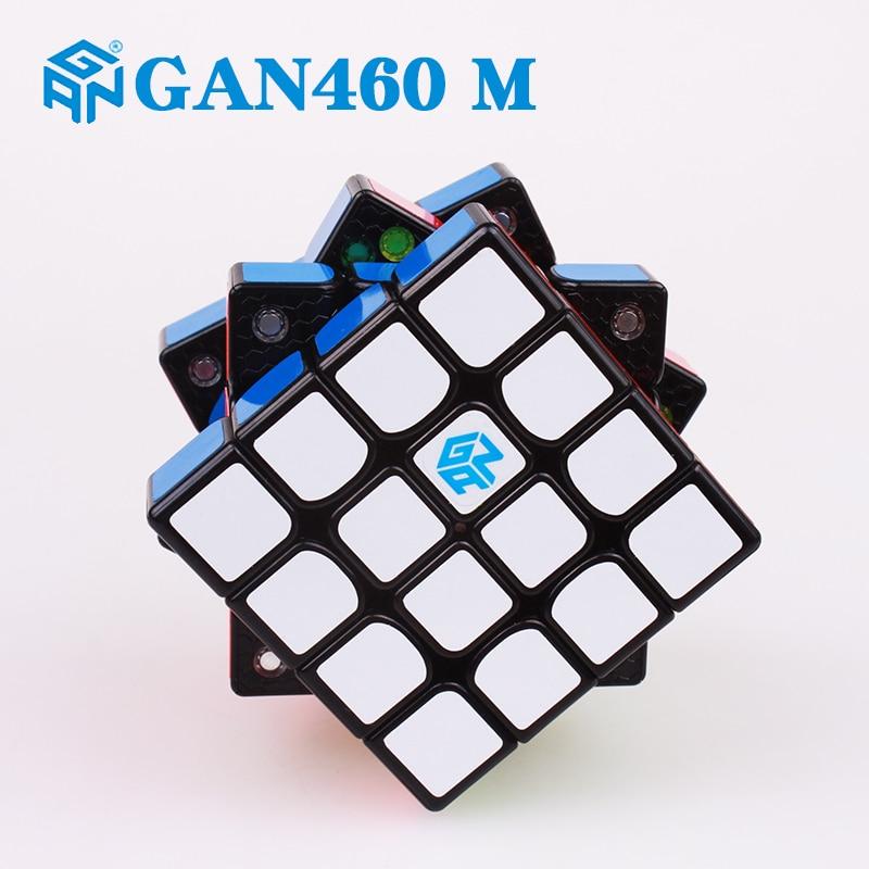 GAN 460 m 4x4x4 Magnétique Cube Magique Professionnel Puzzles Gan 460 m Aimants Vitesses Cubo Magico stickerless Gan Cube Jouets Pour Les Enfants