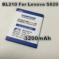 3200 mah bl210 batería para lenovo a606 s820 s820e a750e a770e a656 a766 a658t s650 a536 bl 210 baterías bateria
