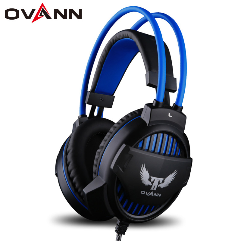 Ovann G1 Professional Gaming Headphone Stereo Bass Headset Earphone Over Ear 3.5mm USB with Microphone LED Light for PC Computer high quality gaming headset with microphone stereo super bass headphones for gamer pc computer over head cool wire headphone