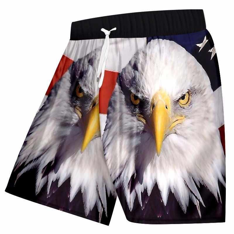 OGKB męskie spodenki letnie śmieszne druku flaga Animal Eagle 3d pokładzie bermudy mężczyzna Fitness Workout długość do kolan bokserki spodnie