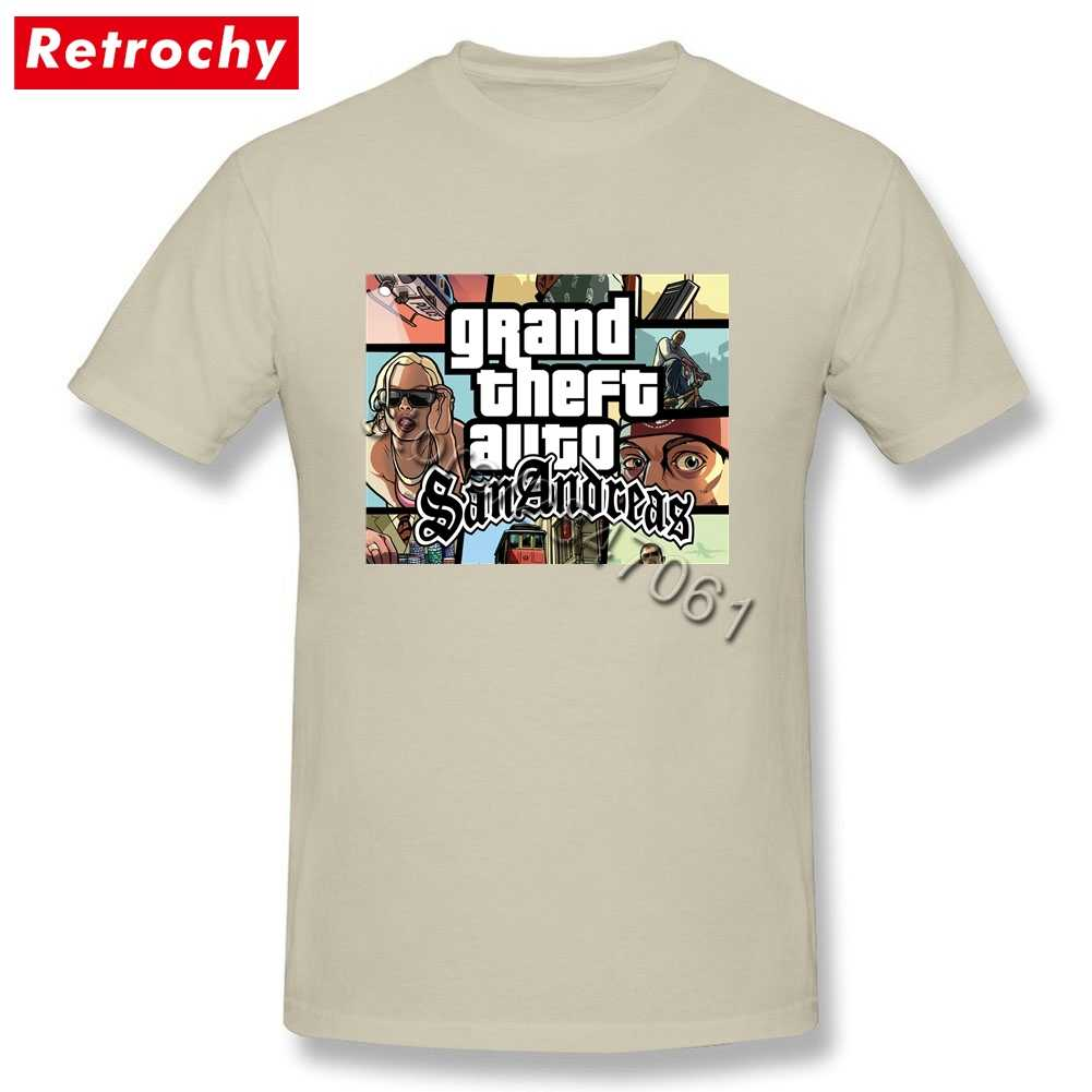 Популярная Игровая футболка GTA San Andreas Team GRAND THEFT AUTO, Мужская футболка с короткими рукавами, уникальная одежда для видеоигр, 2019