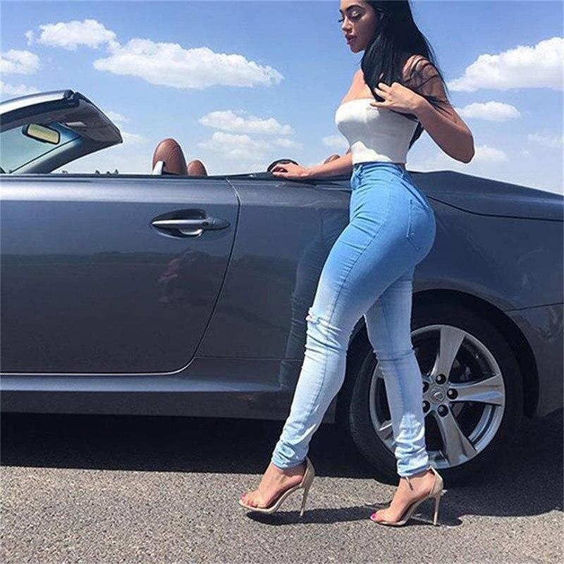 JENYAGE Distressed Jeans Woman Boyfriend Jeans New Arrival 2019 Winter Denim Pants Sexy High Waist Ripped Skinny Gloria Jeans
