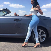 JENYAGE Distressed Jeans Woman Boyfriend Jeans New Arrival 2019 Sexy Stretchy High Waist Ripped Skinny Gloria Demin Jeans 300229
