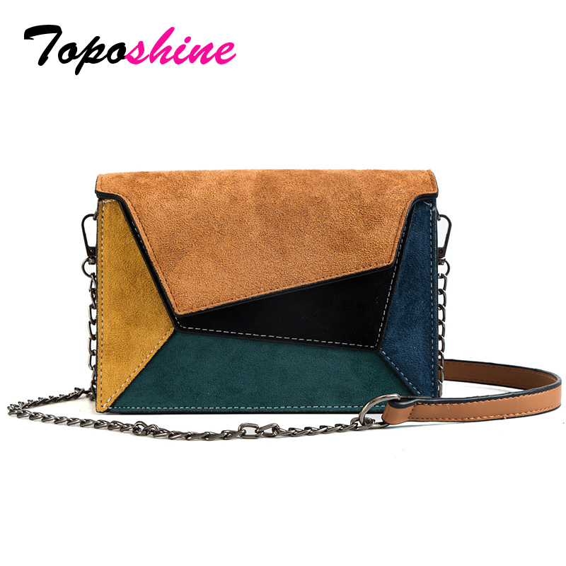 Toposhine Patchwork-Bags Female Bags Small Fashion Ladies' Women for Summer Hot Chain-Strap