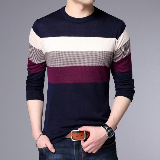 Sweater Men Autumn Winter Slim Fit Pullovers Men Pull Homme social cotton thin men's pullover knitted sweater men masculino