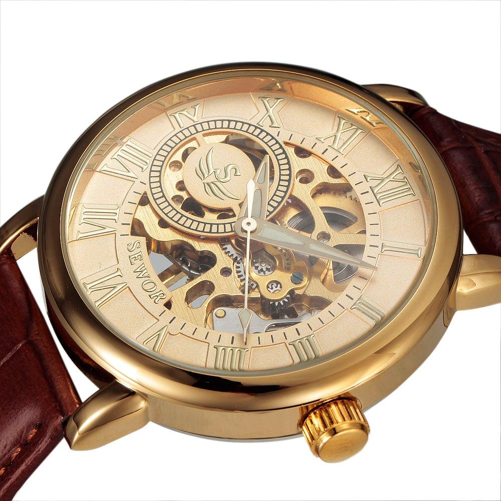 SEWOR 3d лого дизайн куха гравиране черен - Мъжки часовници - Снимка 2