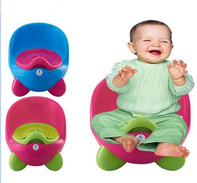 Bebé se siente implementar bebés Closestool bebé inodoro orinal bebé muchachas del muchacho niños de esfínteres inodoro portátil 0-6 años
