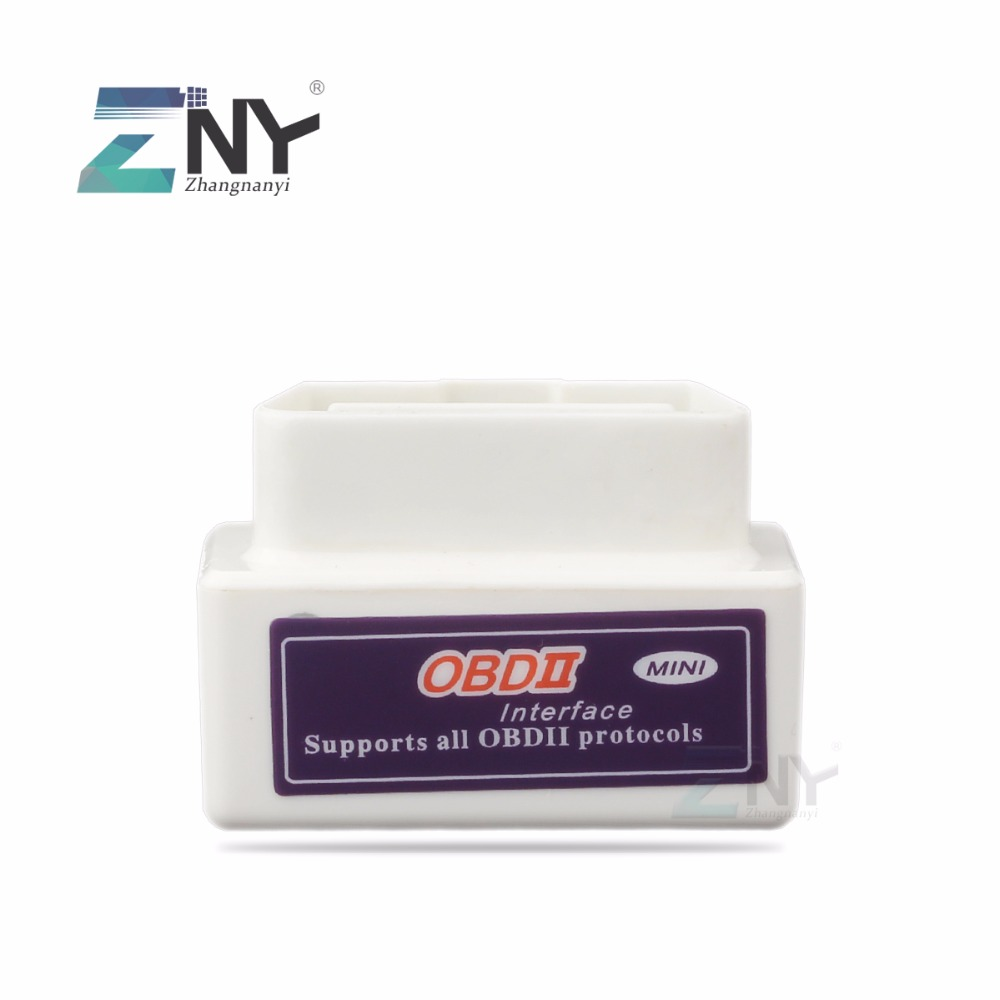 ZNY Mini External Bluetooth Mini OBD II ELM327 Adapter Diagnostic Tool works on Android player