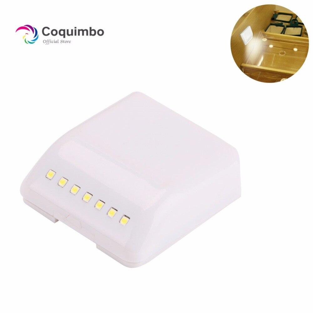 7 LEDs Induction Closet Light Automatic Switch Battery ...