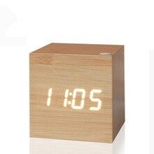 Reloj Digital antiguo, reloj LED de oficina, mesa Retro Vintage, breve reloj de arte personalizado, reloj silencioso, reloj electrónico, decoración del hogar