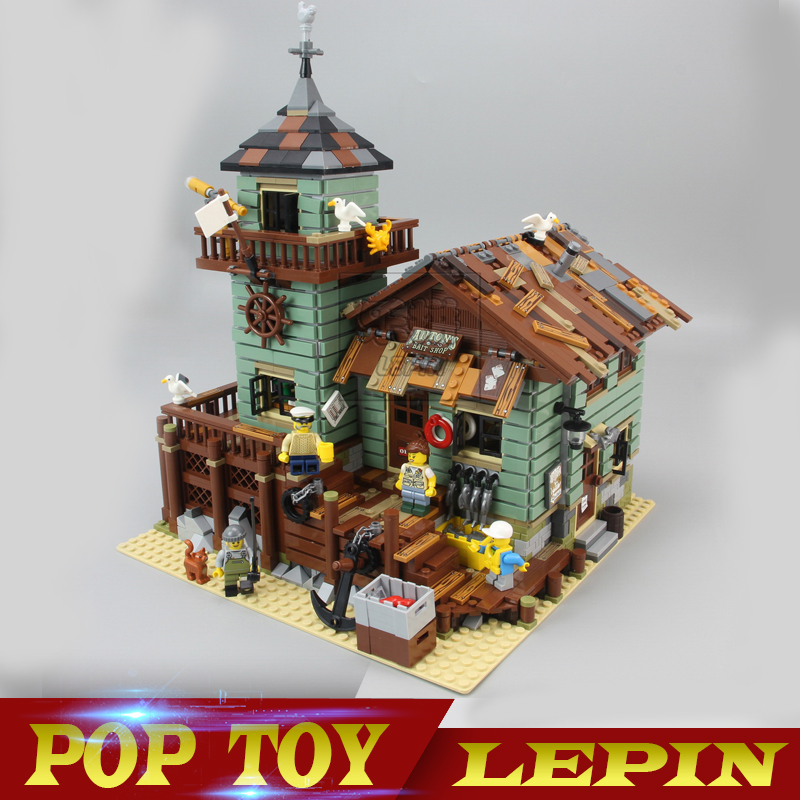 In Stock Lepin 16050 2109Pcs MOC The Old Finishing Store Set Children Educational Building Blocks Bricks Toys Model Clone 21310 lepin 16050 the old finishing store set moc series 21310 building blocks bricks educational children diy toys christmas gift