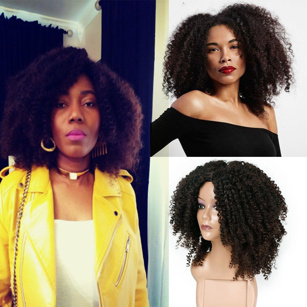 Fashion Women Hair Wigs Brown Synthetic Curly Wigs for Women Short Afro Wig African American Natural Wig 2M81107