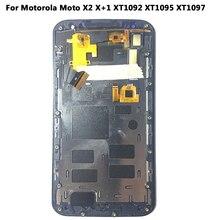 Новый 100% рабочая ЖК-дисплей Дисплей Сенсорный экран планшета каркасные Замена для Motorola Moto X2 X + 1 XT1092 XT1095 XT1097