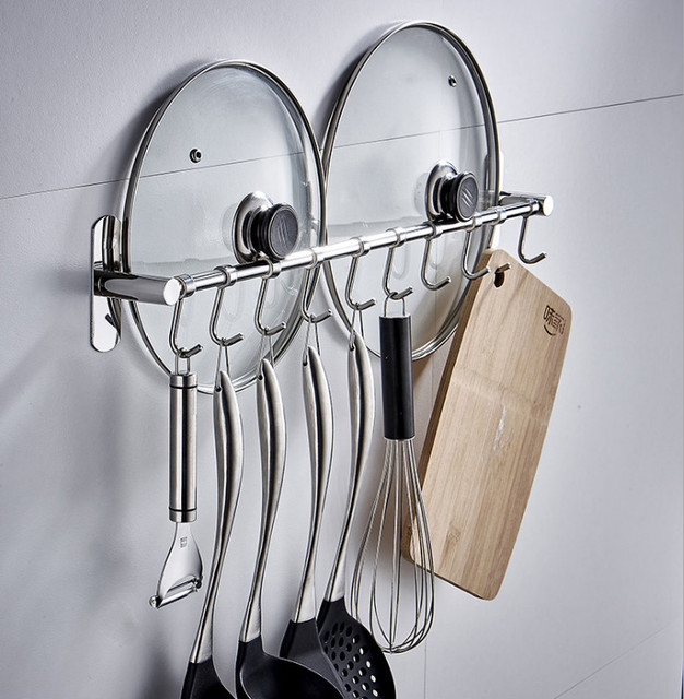 Charmant Suction Cup Kitchen Organizer Cooking Tool Rack Kitchen Utensils Spoon  Hanger Ladle Spatula Whisk Hook For