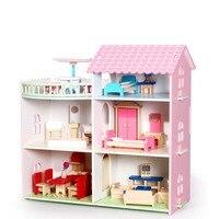 Притворись Играть мебель игрушки деревянный кукольный домик Мебель Миниатюрные игрушка набор Кукольный дом игрушки для Для детей игрушка