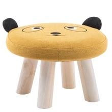 Детский табурет детский диван-стул Милая табуретка для животных устойчивый деревянный стул домашний мультфильм детский сад скамейка