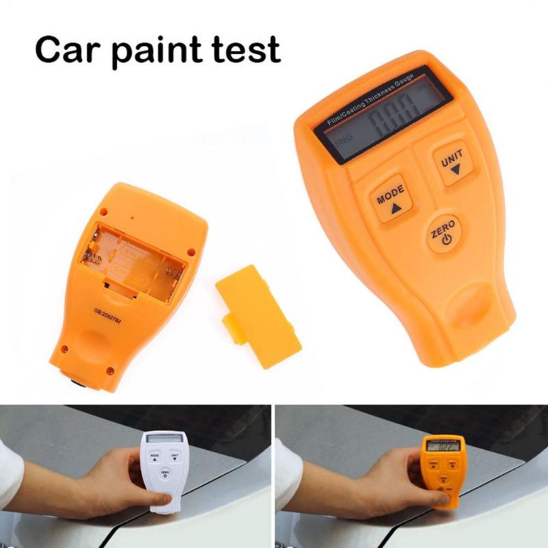 GM200 Thickness Gauge Coating Painting Thickness Gauge Tester Ultrasonic Film Mini Car Coating Paint Thickness Gauge Meter Tools brand genuine amittari wet film thickness comb thickness gauge meter tester 25 2032um 1 80mil paint coating