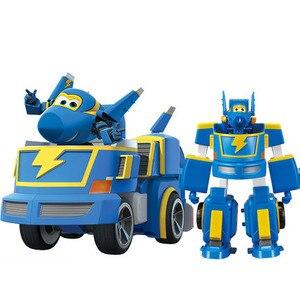 Image 4 - HOT 17*11 cm Super Ali giocattoli Aereo ABS Action Figures Super Ala Trasformazione Robot Jet di Animazione per il compleanno regali