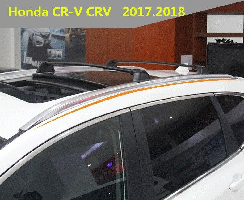 Автомобильные поперечные рейки, багажник на крышу для Honda, CRV, 2017,2018, высокое качество, Алюминиевый винт, установка, автомобильные аксессуары