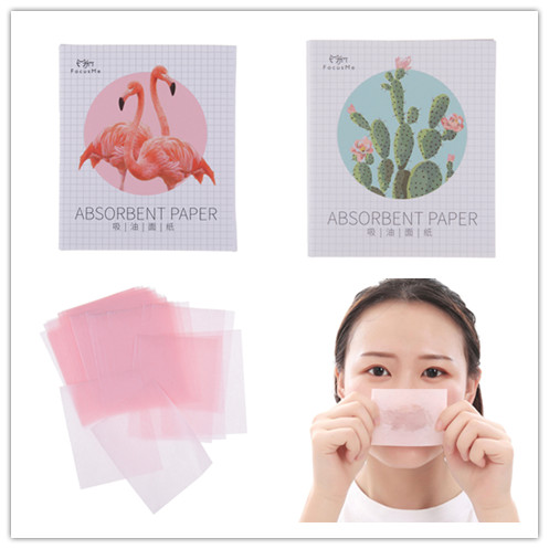 50Pcs/Pack Absorbent Paper Oil Control Wipes Makeup Cleansing Summer Blotting Facial Oil Shrink Pore Face Cleaning Tool