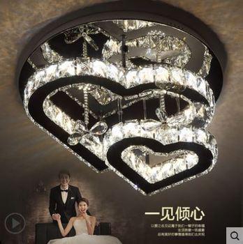 Kristal lamba atmosfer aşk kalp şeklinde enerji tasarruflu lamba yatak odası düğün odası ana yatak odası restoran tavan lambası
