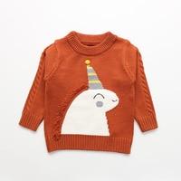 aa120d46e New 2019 Autumn And Winter Clothing Boy Sweaters Children Cartoon Unicorn  Sweater Girls Neck Sweater Kids. Novo 2019 outono e inverno roupas ...
