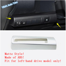 Lapetus Auto Styling Head Lights Lamp Switch Button Cover Trim ABS Fit For Toyota Corolla 2019 2020 / Matte Carbon Fiber Look lapetus auto styling matte carbon fiber style head headlamp light lamp switch button cover trim fit for toyota camry 2018 2019