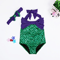 2016 HOT Lovely Girl Kids Swimmable Mermaid Tail Swimwear Children Bikini Bathing Suit Swimsuit Beach Wear Baby Swimming Costume