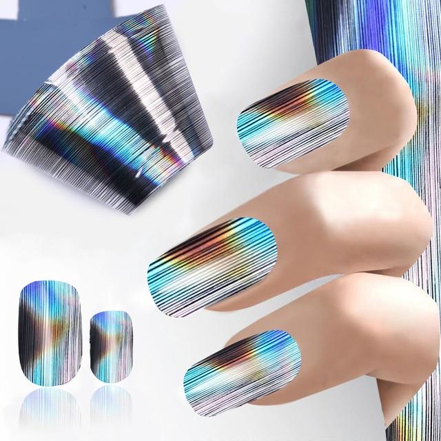 Mix Size 1004cm Stripe Line Design Nail Foil Full Wrap Nail Art