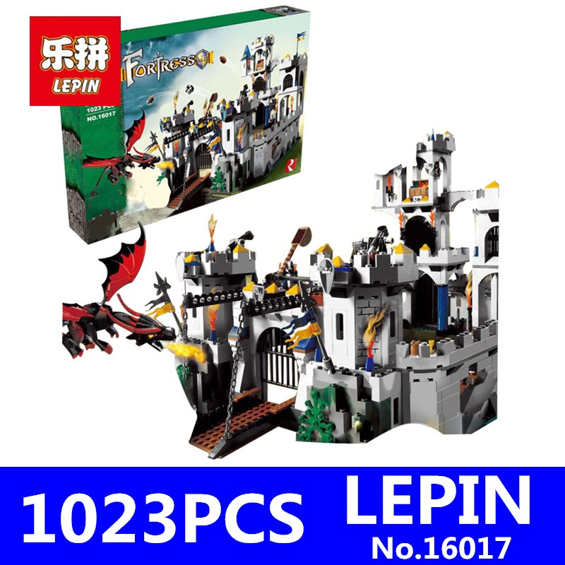 King`s Castle Siege Set LEPIN Genuine 16017 Castle Series Children Building Blocks Bricks Educational Toys Model Gifts 7094 king s revival