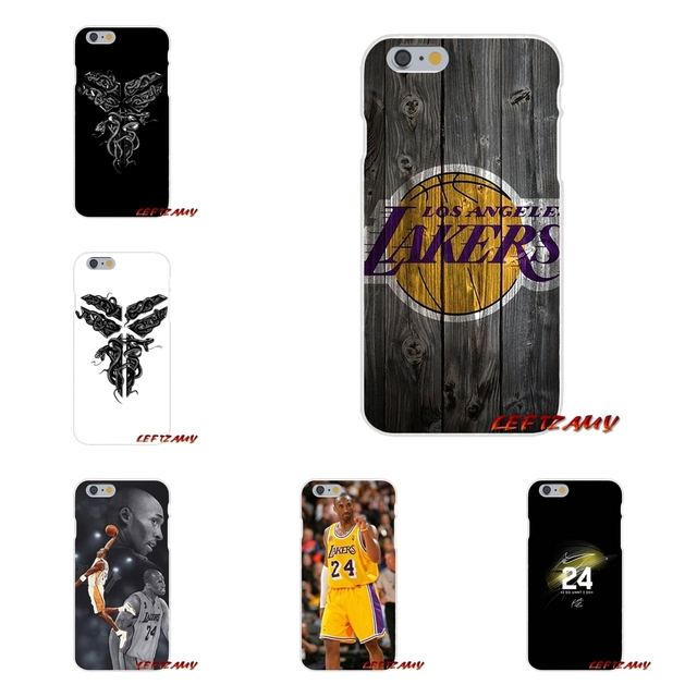 outlet store c8c48 f8c78 Accessories Phone Shell Covers For iPhone X 4 4S 5 5S 5C SE 6 6S 7 8 Plus  Losangeles Lakers Kobe Bryant-in Half-wrapped Case from Cellphones & ...