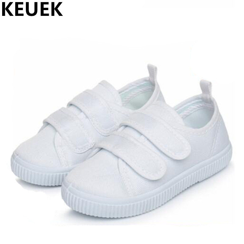 New Children Casual Shoes Student White Sneakers Boys Canvas Shoes Girls Espadrilles Sports Baby Toddler Flats Kids Shoes 019