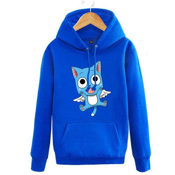 Anime Fairy Tail Natsu Happy Unisex Cosplay Set Head Hoodie High Quality+Free Shipping G