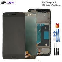 Originele Voor Oneplus 5 A5000 Lcd Touch Screen Digitizer Voor Oneplus 5 Screen Lcd scherm Telefoon Onderdelen Gratis Tools