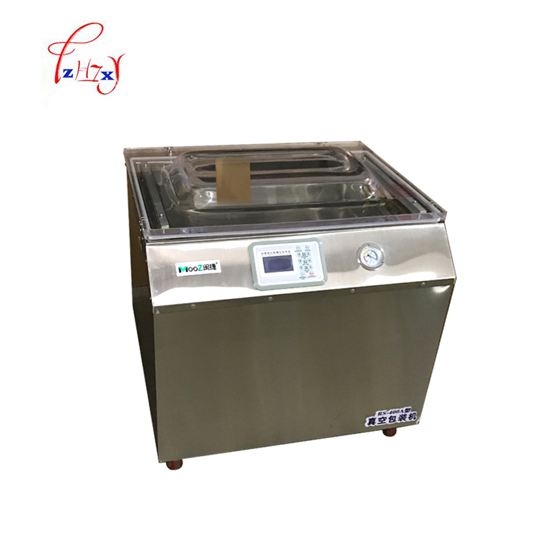 Commercial vacuum food sealer vacuum packaging machine automatic wet and dry food vacuum sealing machine RS400A 110V/220V 220v 220v full automatic electric vacuum sealing machine dry and wet vacuum packaging machine vacuum food sealers