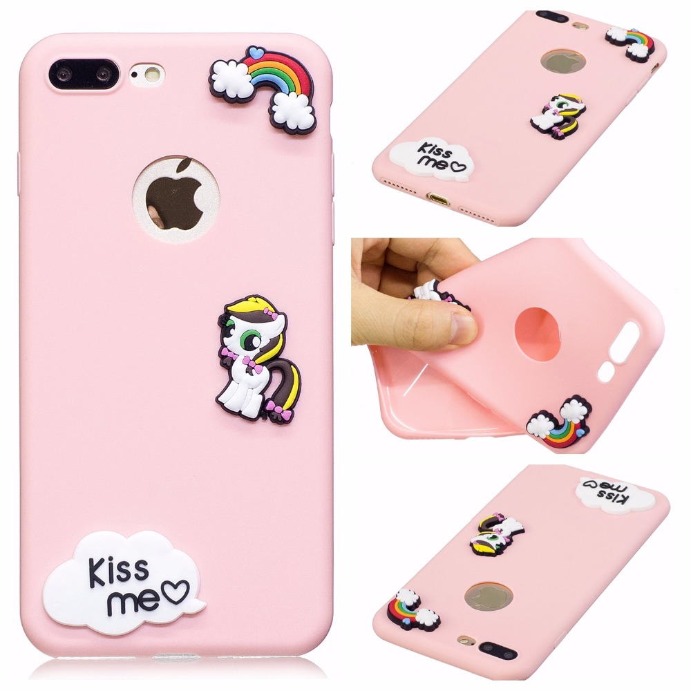Cute Case For Apple iPhone 5s On 5 se 6s Plus Candy Colorful TPU ...