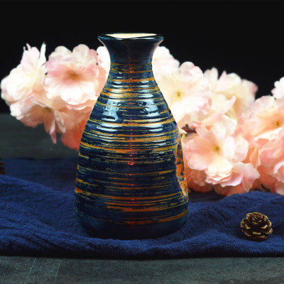 Японский ликер горшок Ретро керамика теплые емкость для ликера дистрибьютор бытовой маленькие белые вина флакон китайский barware Сакура - Цвет: 12