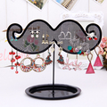 Fashion Black Beard Shape Jewelry Display Shelf Earring holder Rack Ear Stud Hanging Organizer Display Stand For Women