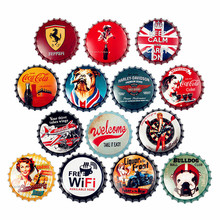 Beer bottle cap wrought iron wall hanging American retro creative decoration home bar shop soft pendant