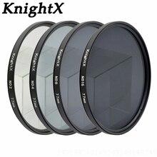 KnightX ND2 ND4 ND8 ND lens Filter 52mm 58mm 67mm Neutral Density for Canon nikon sony 70d D7100 D7200 D5200 D5300 D3300 D3200
